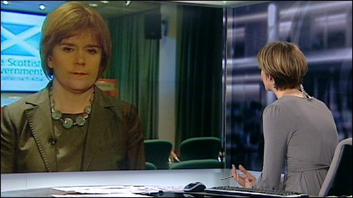 Nicola Sturgeon talks to Rachel Scofield