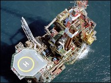 BP's Andrew rig in the North Sea - copyright BP
