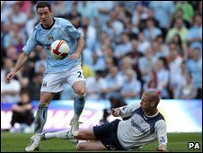 Action from Manchester City v Bolton Wanderers