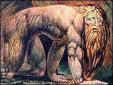 Blake's Nebuchadnezzar, courtesy of Tate