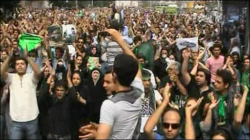 Pro-Mousavi supporters