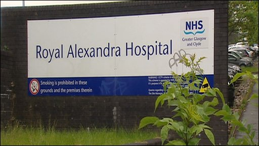 Royal Alexandra Hospital sign