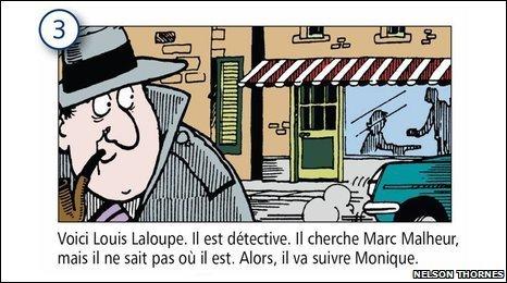 Tricolore cartoon