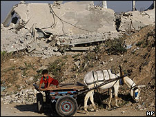 Donkey cart, Gaza (file pic)