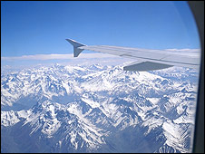 Andes from a plane