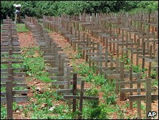 A mass burial site near Kigali, Rwanda