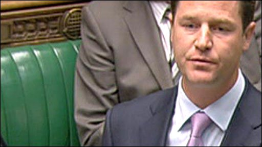 Liberal Democrat leader, Nick Clegg