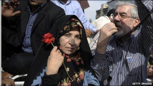 Mr Mousavi at rally