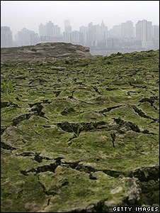 Dried river bed, China (Getty Images)