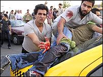 متظاهر اصيب في اطلاق النار بميدان ازادي