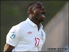 Micah Richards celebrates scoring for England