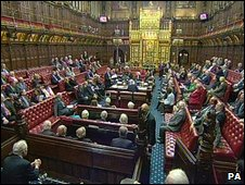 House of Lords in session