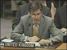 Britain's ambassador to the UN, Sir John Sawers, July 2008