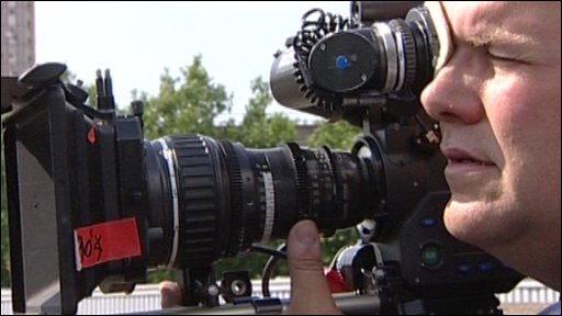 Cameraman filming Spooks