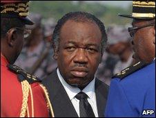 Omar Bongo's son Ali-Ben Bongo (centre)