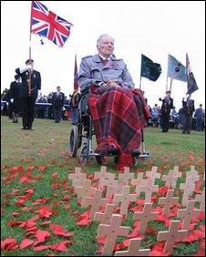 Harry Patch at the poppy appeal launch