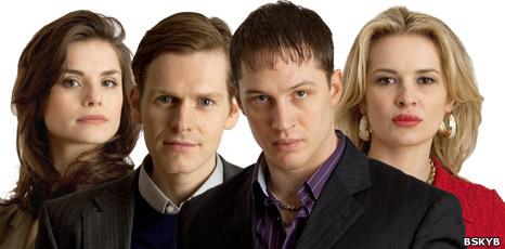 Charlotte Riley (Maggie Summers), Shaun Evans (Jimmy Jackson), Tom Hardy (Freddie Jackson) and Kierston Wareing (Jackie Jackson)