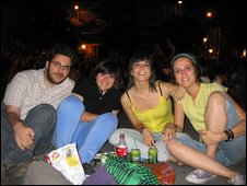Arancha (second from right) and her friends