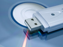 CD and flash drive