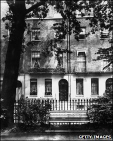 Christina Rossetti's home in Torrington Square.