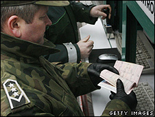 Polish passport control (file pic)