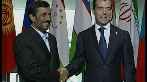 Ahmadinejad and Medvedev