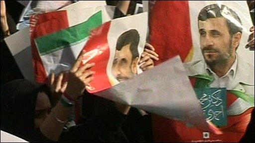 Pro-Ahmadinejad rally