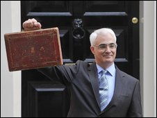 Alistair Darling on Budget Day 2009