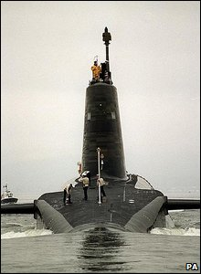 HMS Vigilant, one of Royal Navy's Trident submarines