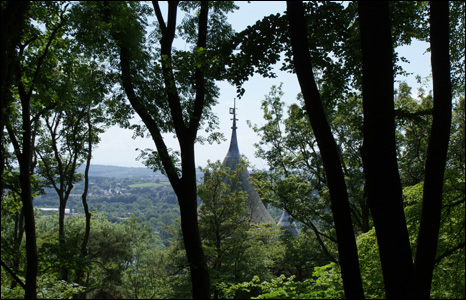 The roof top of Castell Coch, near Cardiff, as seen through the trees by Graham Winter.