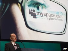 Rupert Murdoch speaking about MySpace
