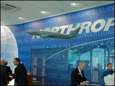 Northrop Grumman stand at Paris Air Show
