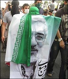 Supporters of Mir Hossein Mousavi, Tehran, 16 June (Pic: Payvand.com )