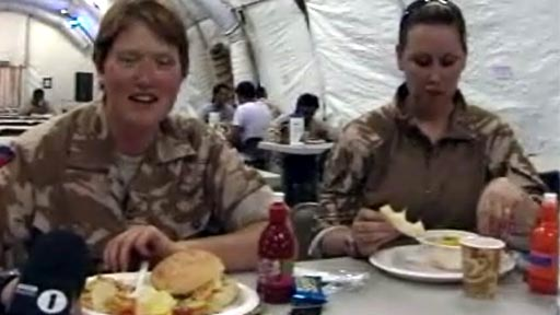 Soldier with food