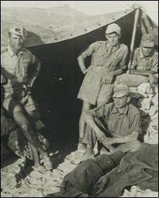 Rudolph Schneider (seated) during WWII