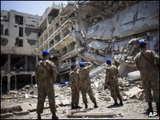 Scene of attack on Pearl Continental hotel in Peshawar earlier this month