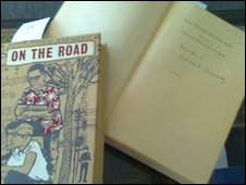 Winston Churchill's signed copy of  A History of The Second World War (rt) and a signed first edition of Jack Kerouac's On The Road