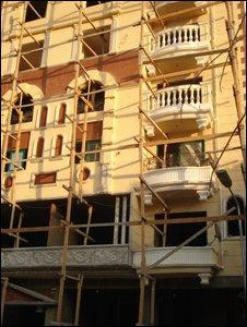 Empty apartment block in Cairo