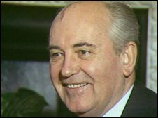File picture of Mikhail Gorbachev in 1989