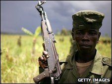 A soldier in the Congolese army