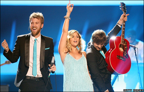 Charles Kelley, Hillary Scott and Dave Haywood of Lady Antebellum