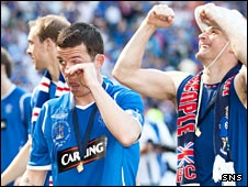 Barry Ferguson wipes away the tears as Rangers win the Scottish Cup