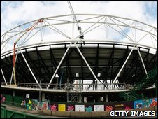 2012 stadium in east London. May, 2009