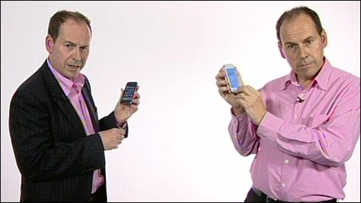 Rory Cellan Jones with the iphone 3GS and the N97