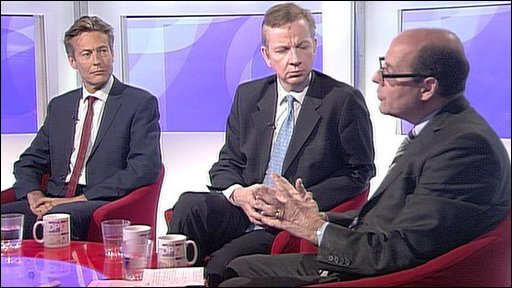 Nick Robinson, Ben Bradshaw and Michael Gove