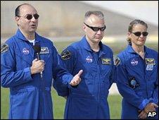 Endeavour crew members (AP)