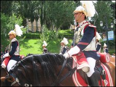 ging of the guard in Madrid