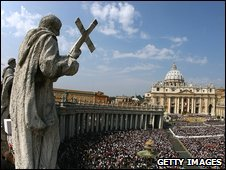 St Peter's Square, Vatican City (file image)