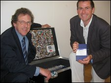 Iestyn Hughes (l) and Steve Bellis
