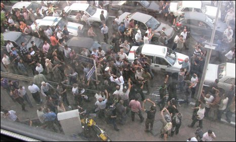 Today's protest in Tehran